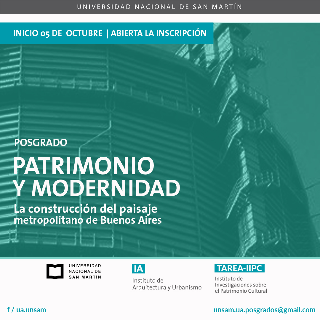 UNSAM | POSGRADO: PATRIMONIO Y MODERNIDAD